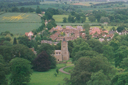 Aerial View of All Saints