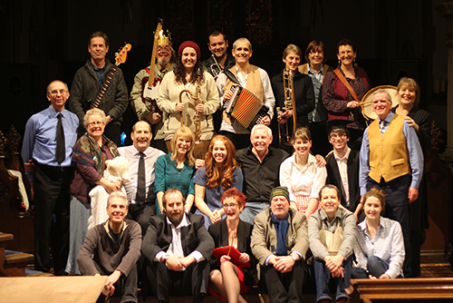 The cast of The Nativity 2014