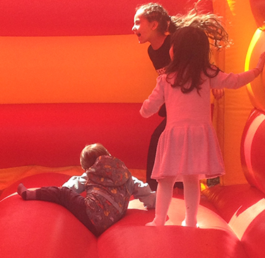 Fun on the bouncy castle